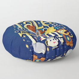 Tale as old as time Floor Pillow
