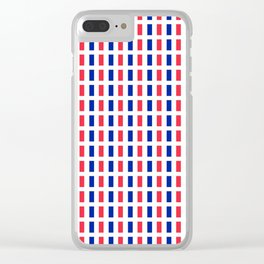 Flag of France 2- France, Français,française, French,romantic,love,gastronomy Clear iPhone Case