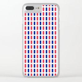 Flag of France 2- France, Français,française, French,romantic,love,gastronomy Clear iPhone Case