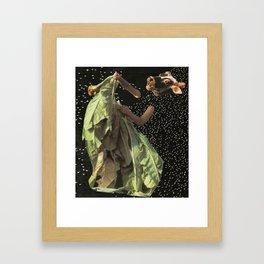 cow drying tobacco Framed Art Print