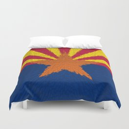 Extruded flag of Arizona Duvet Cover