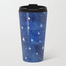 Midnight Stars Night Watercolor Painting by Robayre Travel Mug