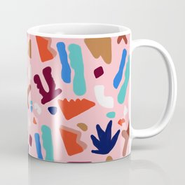 Coral Seagrove Terrazzo Pattern Coffee Mug