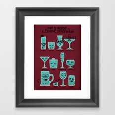 Field Guide to Alcoholic Drinkware Framed Art Print