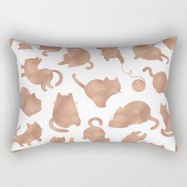 Rose gold cats Rectangular Pillow