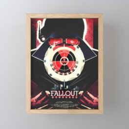Fallout Game Cover Framed Mini Art Print