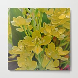 Yellow - May Flower Therapy Metal Print