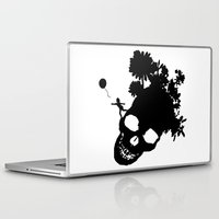 baloon Laptop & iPad Skins featuring Baby baloon skull by _Moj_