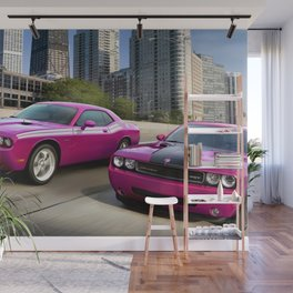 Limited Edition Fuchsia Panther Pink Challenger RT Classic Variation Models Wall Mural