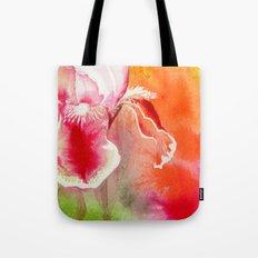Iris, Magenta, Orange, Green DdFlowers Tote Bag