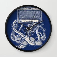 Rocker robot Navy Wall Clock