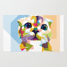 Little colorful cat Rug