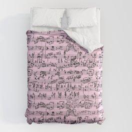 Hand Written Sheet Music // Light Pink Comforters
