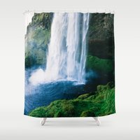 waterfall Shower Curtains featuring Waterfall by StayWild