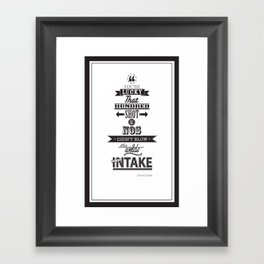 the fast and the furious Framed Art Print
