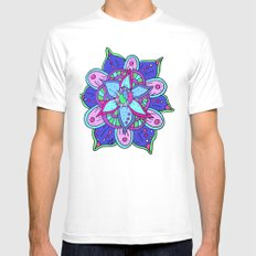 Mandala MEDIUM Mens Fitted Tee White
