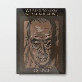 C. S. Lewis Metal Print