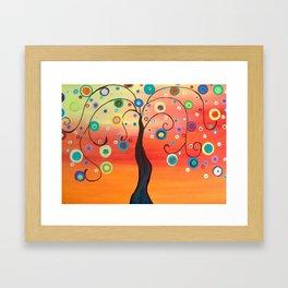 Fiesta Tree Framed Art Print