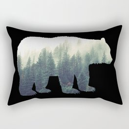 Misty Forest Bear Rectangular Pillow