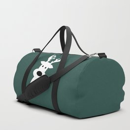 Reindeer on green background Duffle Bag