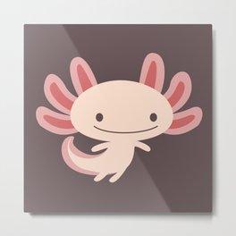 Cute axolotls Metal Print