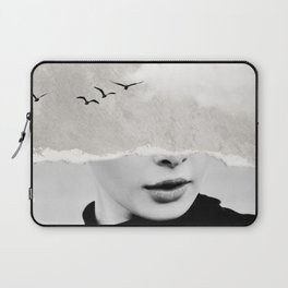 minimal collage /silence Laptop Sleeve