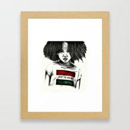 Stop the Violence Framed Art Print