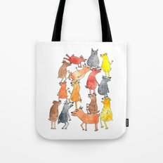 Dog Pyramid Tote Bag