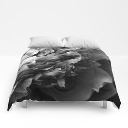 Black and White Summer Peony Comforters
