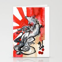 okami Stationery Cards featuring OKAMI by Rubis Firenos