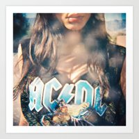 acdc Art Prints featuring ACDC by cesca