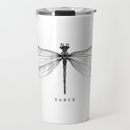 Dragonfly Dance | Black & White Travel Mug