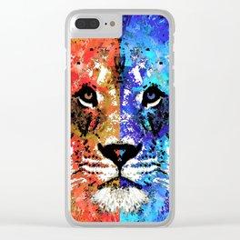 Lion Art - Majesty - Sharon Cummings Clear iPhone Case