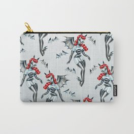 Vampire Bat Pinup Girl Carry-All Pouch