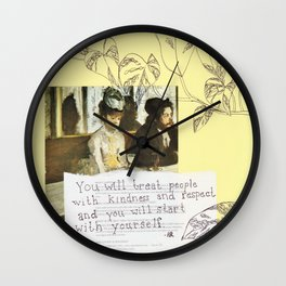 kindness and respect Wall Clock