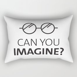 Can You Imagine John Classic Glasses Design Rectangular Pillow