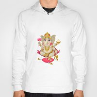ganesh Hoodies featuring Ganesh by Danilo Sanino