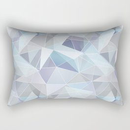 Broken glass in blue. Rectangular Pillow