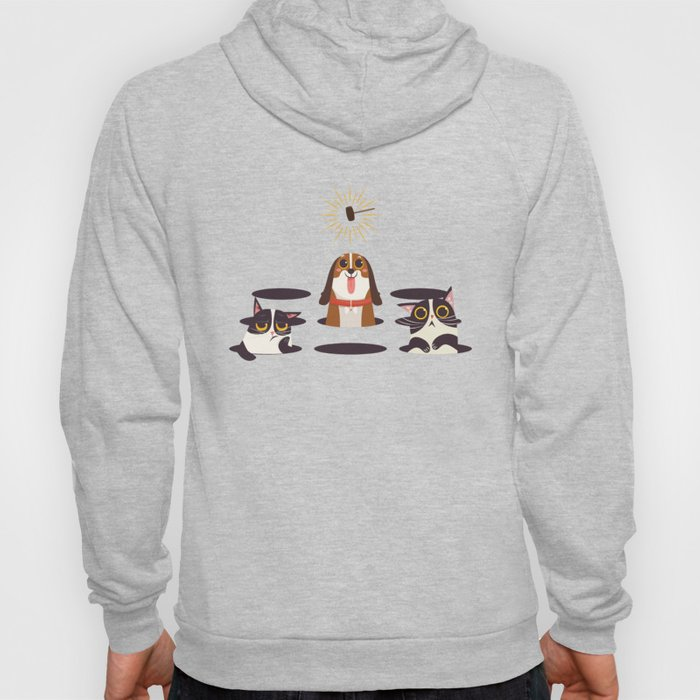 Cute Cats Dogs on Sunny Day Hoody