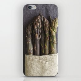 Purple asparagus iPhone Skin