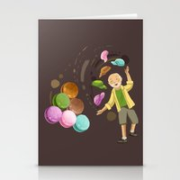 macarons Stationery Cards featuring Macarons by Lilian Darmono