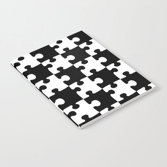 Checkerboard Puzzle Pieces Notebook