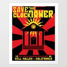 Clocktower Propaganda Art Print