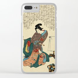 Utagawa Kunisada - Ueshima Monya Clear iPhone Case