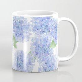 Elegant lavender lilac watercolor hydrangea floral Coffee Mug