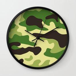 Khaki camouflage pattern Wall Clock