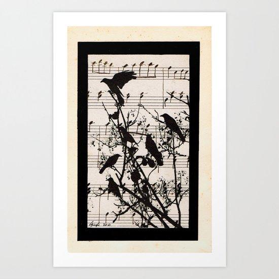 Raven Lied Art Print