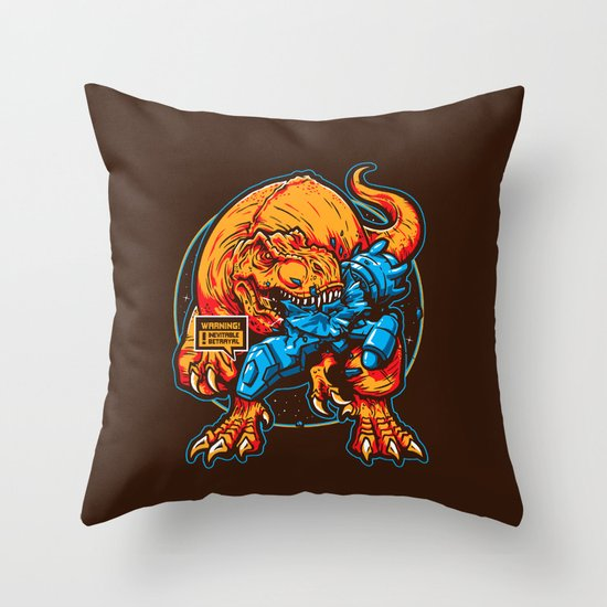 Warning! Betrayal! Throw Pillow