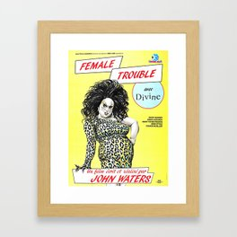 Female Trouble - Divine Framed Art Print