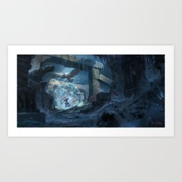 Snow Gate Art Print